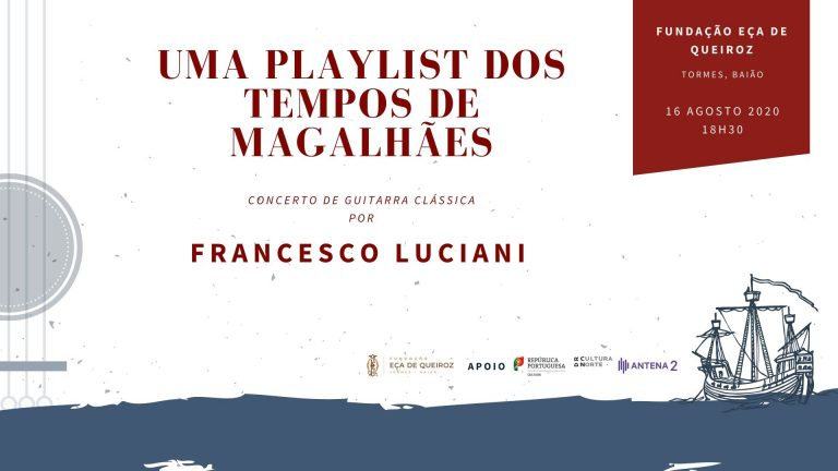 Os 120 anos da morte de Eça de Queiroz celebram-se ao som da guitarra clássica