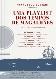 Concertos Uma Playlist dos Tempos de Fernão Magalhães por Francesco Luciani - Agosto 2020